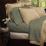 Mandarin Home Bamboo Blend Luxury Bed Sheets – Eco-friendly, Hypoallergenic and Wrinkle Resistant Bamboo – 4-Piece –(Queen, Olive)