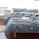 Uozzi Bedding 3 Piece Duvet Cover Set King, Reversible Printing with Brushed Microfiber, Lightweight Soft, Comfortable , Durable (Gray, King)¡