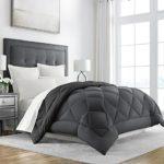 Sleep Restoration Goose Down Alternative Comforter – Reversible – All Season Hotel Quality Luxury Hypoallergenic Comforter -Full/Queen – Grey/Black