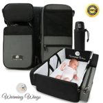 SmartNest – The 3 in 1 Fashionable Stylish Diaper Bag with Changing Pad , Portable Bassinet , Foldable Changing Station, Convertible Travel Crib, Infant Napper, Multi-Purpose Baby Travel accessory