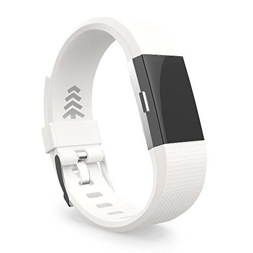 Fitbit Charge 2 Band, White Replacement Bands, Small Single Pack, Offered by Teak