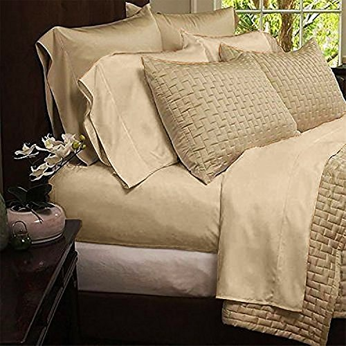 Mandarin Home Luxury Bamboo Bed Sheets – Eco-friendly, Hypoallergenic and Wrinkle Resistant – 4-Piece –(King, Cream)