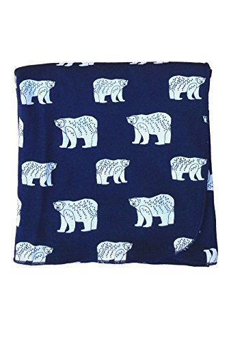 "Parade Organics Organic ""Everything"" Printed Baby Blanket,One Size,Polar Bears, Polar Bears, One Size"