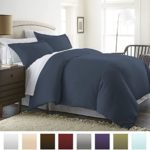 Beckham Hotel Collection Luxury Soft Brushed 1800 Series Microfiber Duvet Cover Set – Hypoallergenic – Twin/TwinXL, Navy
