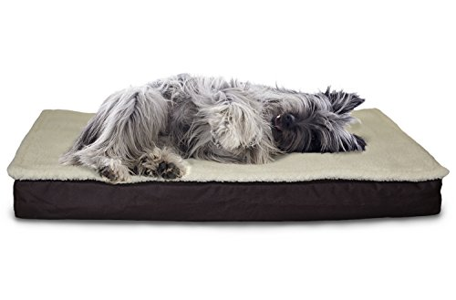 Furhaven Orthopedic Mattress Pet Bed, Medium, Convertible Espresso, for Dogs and Cats