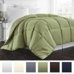 Beckham Hotel Collection 1800 Series – All Season – Luxury Goose Down Alternative Comforter – Hypoallergenic –King/Cal King – Sage