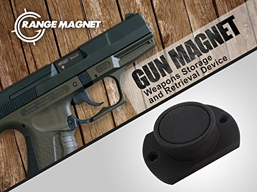 Range Magnet | Powerful Neodymium Safe Holster With Protective Coating For Shotguns, Rifles, Firearms, Handguns, Pistols Up To 25Lbs | For Cars, Trucks, Under Desk, Nightstand, Bed & More