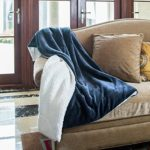 Bedsure Sherpa Blanket Throw Blankets Bed Blankets, Soft Cozy and Warm(Reversible/Textured/Fuzzy), 60″ x 80″ Navy Blue