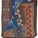 Ruth&Boaz Outdoor Wool Blend Blanket Ethnic Inka Pattern(K) (BLUE, NORMAL)