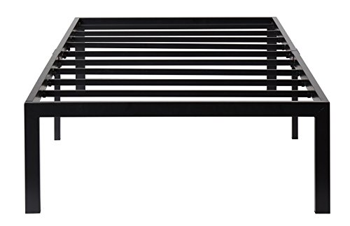 Olee Sleep 14 Inch T-3000 Heavy Duty Steel Slat Bed Frame 14BF04T
