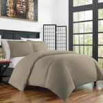 Zen Bamboo Ultra Soft 3-Piece BambooFull/QueenDuvet Cover Set –Hypoallergenic and Wrinkle Resistant, Taupe