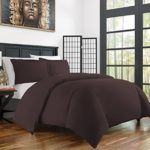 Zen Bamboo Ultra Soft 3-Piece BambooKing/Cal KingDuvet Cover Set –Hypoallergenic and Wrinkle Resistant, Brown