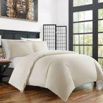 Zen Bamboo Ultra Soft 3-Piece BambooFull/QueenDuvet Cover Set –Hypoallergenic and Wrinkle Resistant, Cream