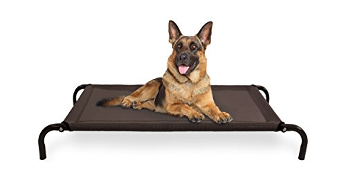 Furhaven Pet Large Cot Pet Bed for Dogs and Cats- Espresso