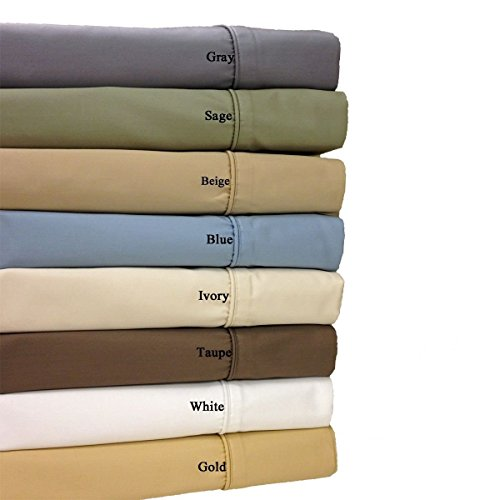 California-King Ivory 650-Thread-Count Sheet Set, Cotton-Blend Wrinkle-Free Sheets