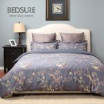 Duvet Cover Set with Zipper Closure-Multi Printed Pattern, Full/Queen (86″x96″)-3 Piece (1 Duvet Cover + 2 Pillow Shams)-110 gsm Ultra Soft Hypoallergenic Microfiber by Bedsure