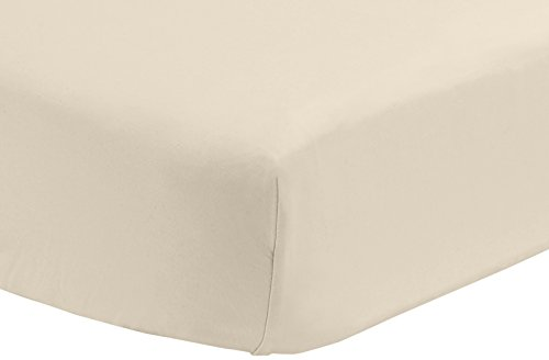 Pinzon 300 Thread Count Percale Fitted Crib Sheet, Ivory