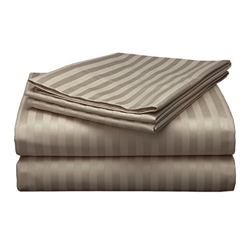 Chateau Home Collection Luxury 100% Ultra Soft Combed Cotton 500 Thread Count 4 Piece Sheet Set, Great Deal – Lowest Prices, QUEEN – BEIGE