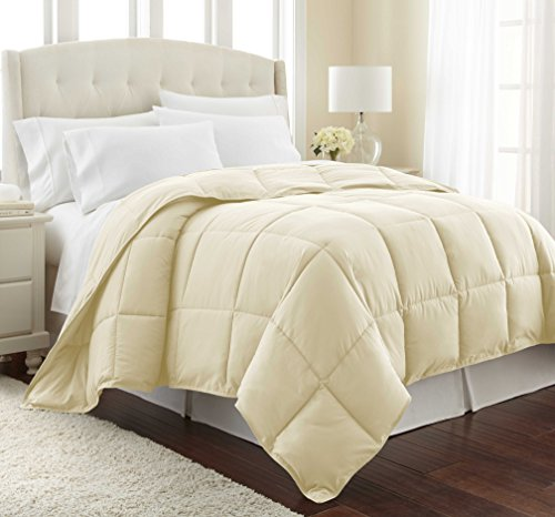 Southshore Fine Linens – Vilano Springs – – Down Alternate Weight Comforter – Off White – KING / CALIFORNIA KING