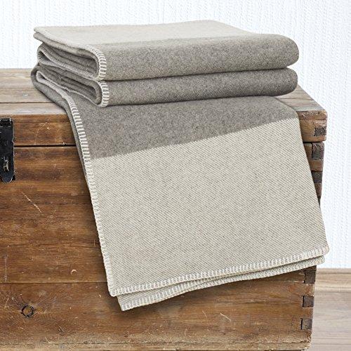 Lavish Home 100% Australian Wool Blanket, King, Platinum