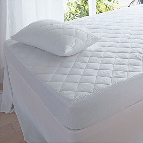Waterproof Mattress Protector King Size. Super-soft Quilted Cotton Bed Cover best for silent, comfortable sleep. Breathable for cool, restful nights. Protects against allergens, perspiration, spills