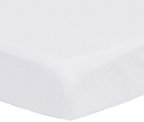 Pinzon 300 Thread Count Percale Fitted Mini Crib Sheet, White