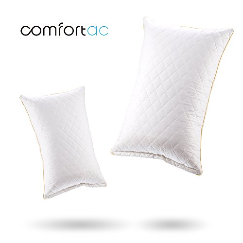 Shredded Memory Foam Pillow by Comfortac, Premium Memory Foam Pillow w/ Removable Vented 100% Cotton Case – Firm & Comfortable Optimum Support, Neck Pain & Headache Relief (Single Pack)
