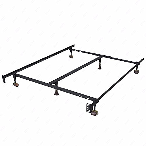 New Modern Bi-Fold Folding Platform Metal Bed Frame Mattress Foundation