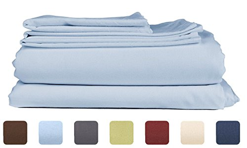 Queen Size Sheet Set – 6 Piece Set – Hotel Luxury Bed Sheets – Extra Soft – Deep Pockets – Easy Fit – Breathable & Cooling Sheets – Comfy – Light Blue Bed Sheets – Baby Blue – Queens Sheets – 6 PC
