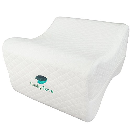 Sciatic Nerve Pain Relief Knee Pillow – Best for Hip, Leg, Knee, Back and Spine Alignment – Memory Foam Orthopedic Leg Pillow Wedge with Washable Cover + Free Storage Bag