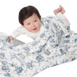Baby Blanket for Boys Soft Minky With Double Layer Dotted Backing, Lovely Grey Bear Printed 30″x40″