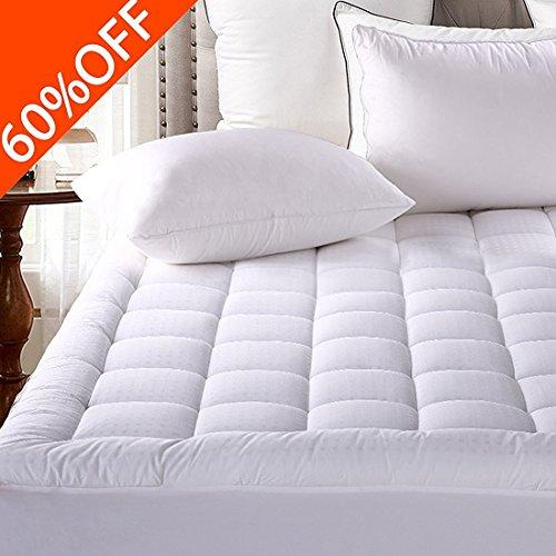 Mattress Pad Cover Twin Size Pillowtop 300TC Down Alternative Mattress Topper with 8-21-Inch Deep Pocket