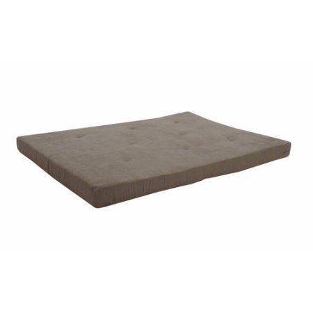 Mainstays 6″ Futon Mattress-Wipe clean with a damp cloth, Gray Essence