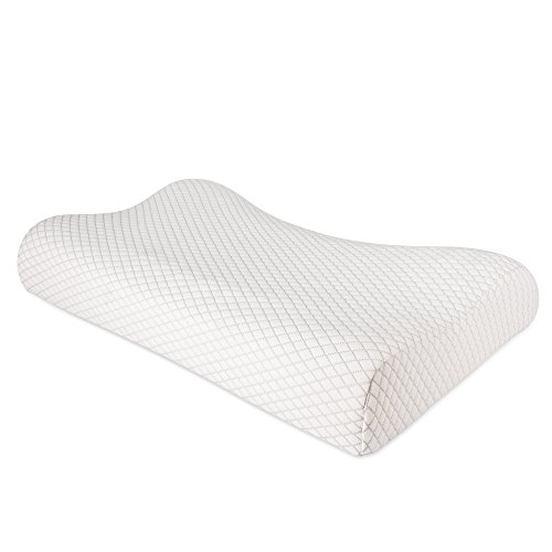 NURSAL Contour Memory Foam Pillow, Hypoallergenic Neck Optimum Support Pillow for Pain Relief, Orthopedic Pillow with Washable Zippered Soft Cover