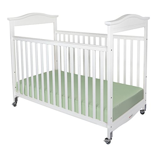 Foundations 1812120M-SO-PK Biltmore Full-Size Fixed-Side Crib with Clearview Headboard & Mattress, 44.5″ Height, 32.25″ Width, 54.75″ Length, White