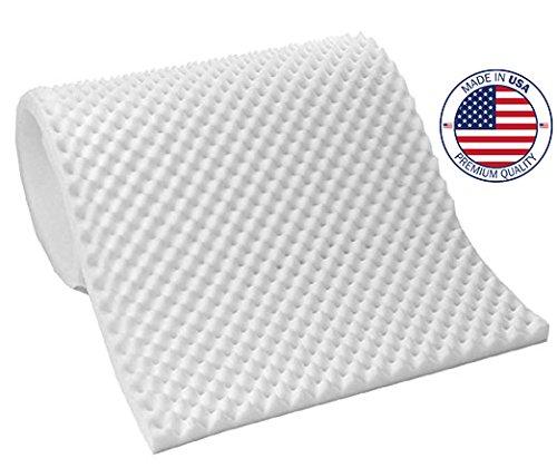 Vaunn Medical Egg Crate Convoluted Foam Mattress Pad – 3″ Thick EggCrate Mattress Topper (Hospital Bed Twin Size) – Made in USA