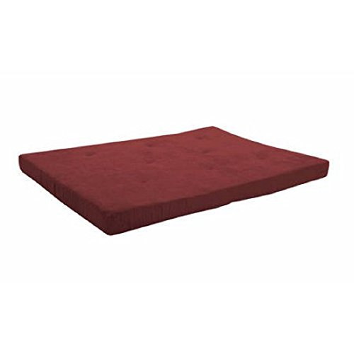 Mainstays 6″ Futon Mattress-Wipe clean with a damp cloth (Ruby Red)
