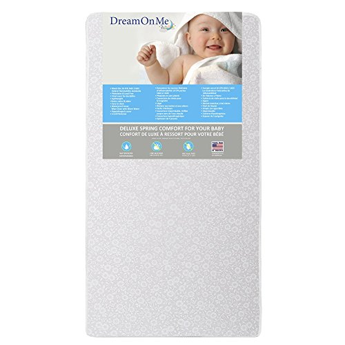 Dream On Me Full Size Firm Foam Crib and Toddler Bed Mattress, Little Baby, 6″