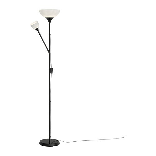 "Ikea Floor Uplight/Reading Lamp, 69″, Black ""NOT 701.451.32"""