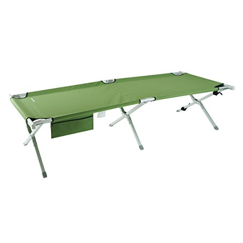 OnwaySports Cot Lightweight Foldable Portable Bed for Camping Carrying Bag Included, Amy Green