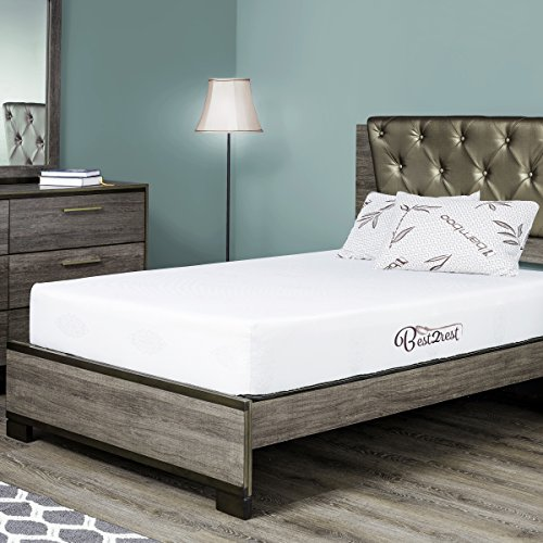 BEST 2 REST Queen Memory Foam Mattress 10 Inch With Cool Gel – Made In USA. Available in all Sizes