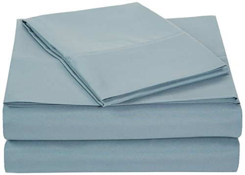 AmazonBasics Microfiber Sheet Set – Twin Extra-Long, Spa Blue