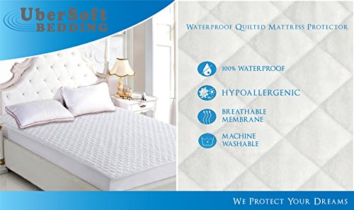 Mattress Protector Pad Queen Bed Cover Waterproof and Hypoallergenic for Accidental Spills, Bed Wetting and Enuresis (Queen)