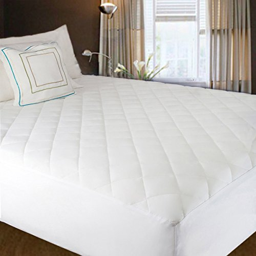 Hippih Quilted Fitted Mattress Pad Covers Waterproof Protector with Extra Comfort ,Queen