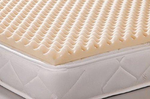 Geneva Healthcare Egg Crate Convoluted Foam Mattress Pad 2″ Standard Queen Size Topper – 2″ x 60″ x 80″ – 1.2 Density