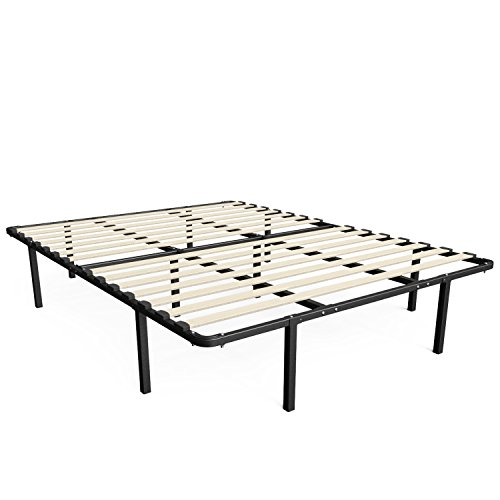 Zinus 14 Inch MyEuro SmartBase / Wooden Slat / Mattress Foundation / Platform Bed Frame / Box Spring Replacement, King