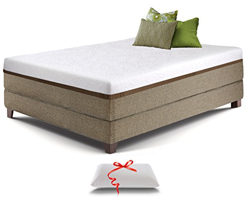 Live and Sleep Resort Ultra 12-Inch Full Size Gel Memory Foam Mattress with Memory Foam Pillow