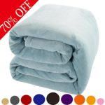 Shilucheng Fleece Soft Warm Fuzzy Plush Lightweight King (104-Inch-by-90-Inch) Couch Bed Blanket, Turquoise