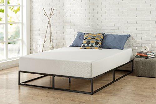 Zinus Modern Studio 10 Inch Platforma Low Profile Bed Frame / Mattress Foundation / Boxspring Optional / Wood slat support, Queen