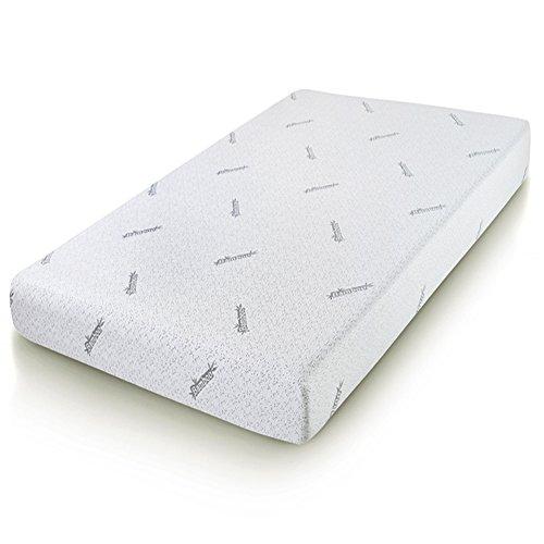 Cr Sleep Twin Memory Foam Mattress with Bamboo Cover, Gel-infused Foam